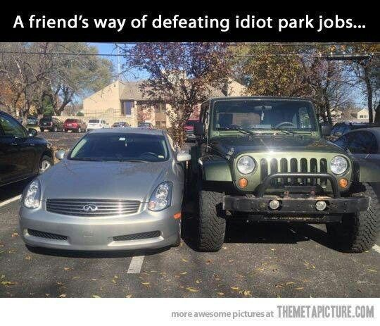 A friend's way of defwnding idiot park jobs