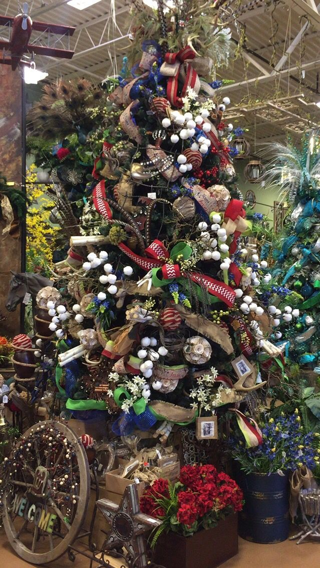 Texas cotton Christmas Designed by Arcadia Floral  Home Decor