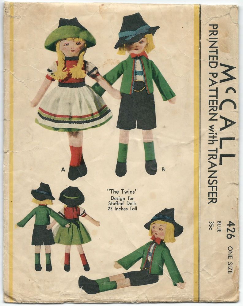 RARE 1930s Vintage Sewing Pattern McCall 426 Craft German Style ...