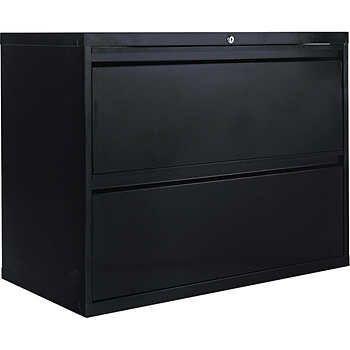 Alera 36 W 2 Drawer Lateral File Black Lateral File Cabinet Alera Organization Storage Solutions