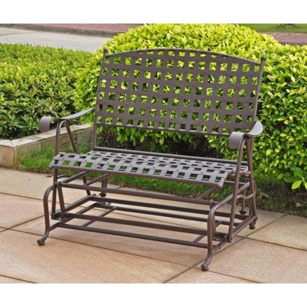 International Caravan Santa Fe 4ft. Wrought Iron Patio Glider
