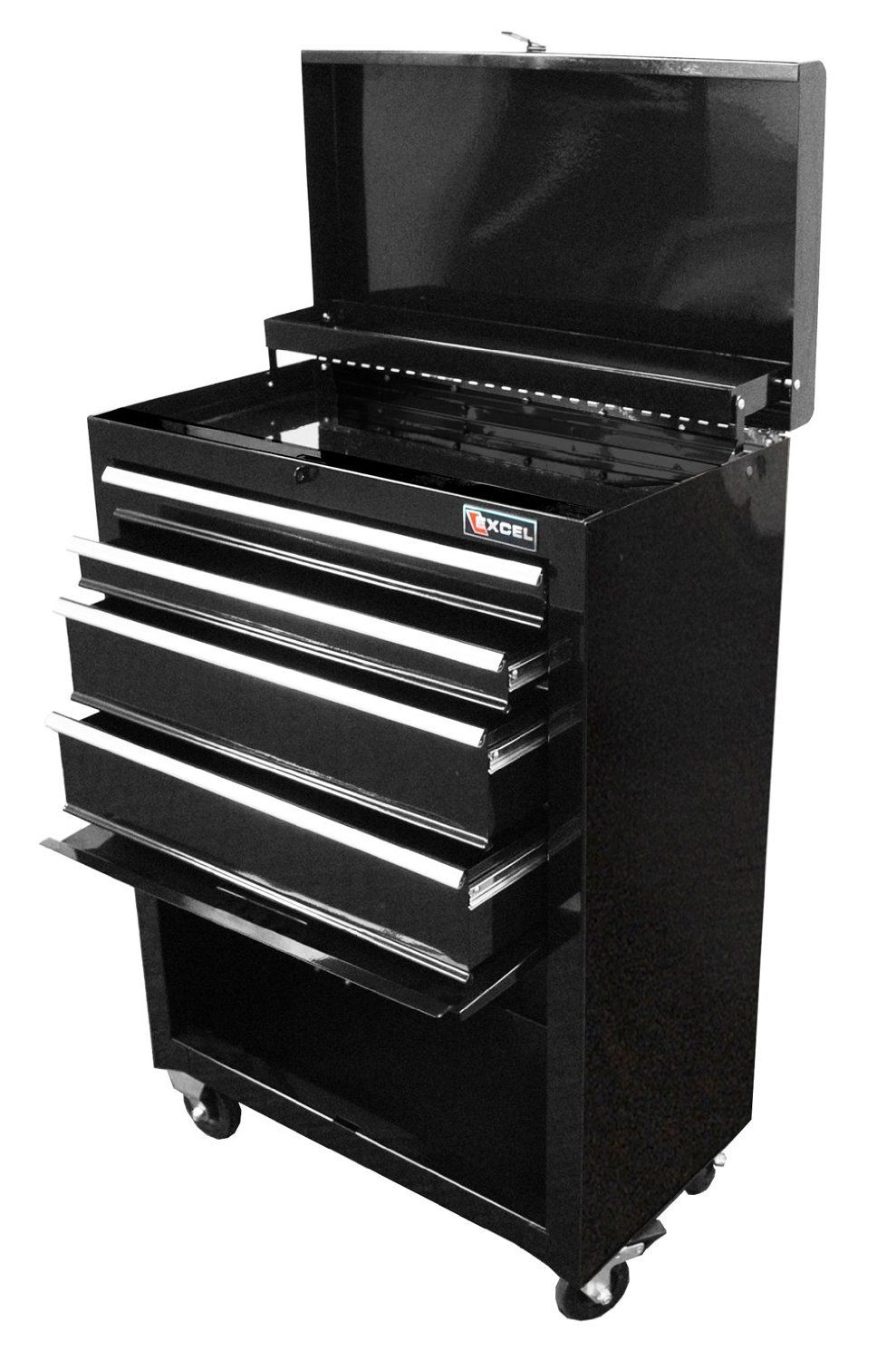 Excel Tb2201x Black 22 Inch Steel Chest Roller Cabinet Combination Black Tool Chests Amazon Com Tool Box Storage Tool Box Cabinet Tool Storage