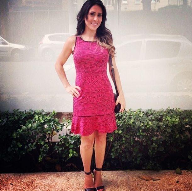 """A linda Renata Betti, do Blog AMICI PER AMICI usando o nosso vestido """"Carla"""" com estampa de zebrinha da coleção Inverno 2014.   ♡ #fillity #fillityinverno2014 #inverno2014fillity"""