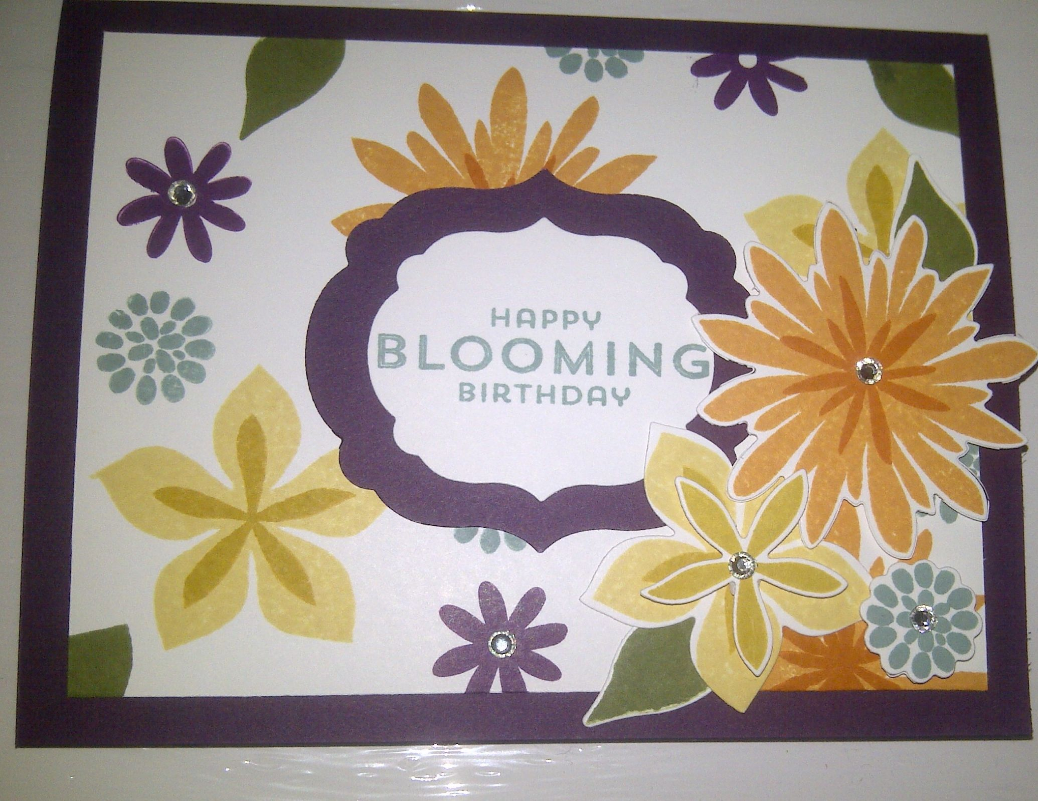 Bloominu birthday card using the flower patch bundle stampin