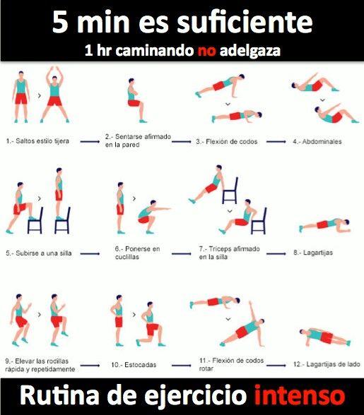 Rutina ejercicios entrenamiento pinterest rutinas - Rutinas para casa ...
