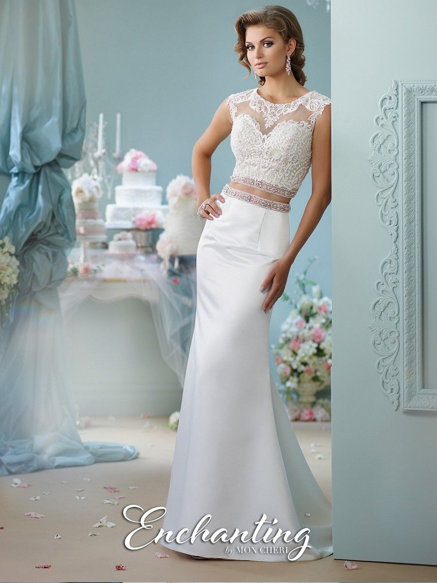 The Enchanting by Mon Cheri 116131 is a two-piece wedding dress ...