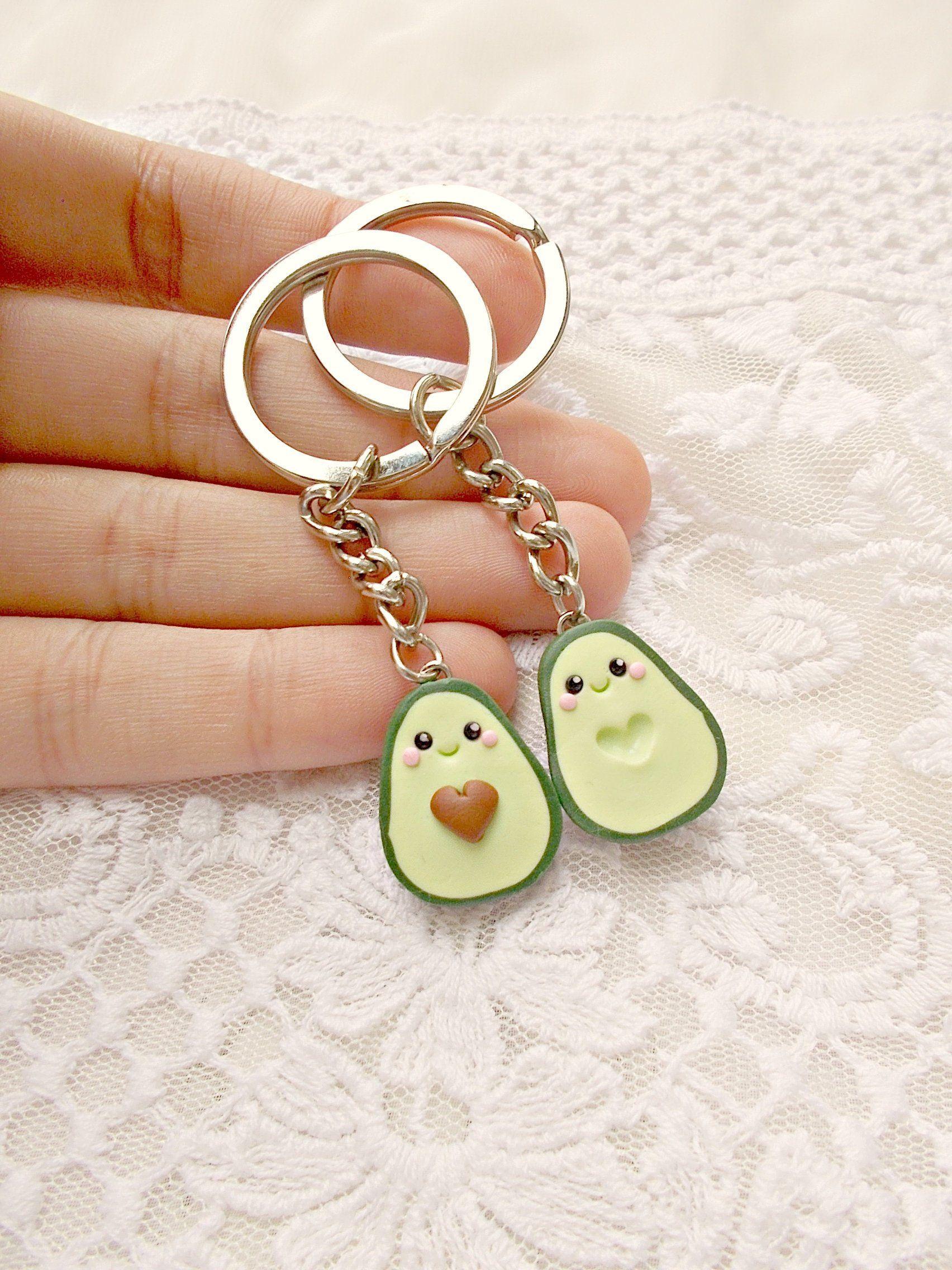 Beste Freundin Geschenke - Avocado Muttertag Geschenk Avocado Schlüsselanhänger Set - Freund Freundin Geschenk - Geschenk für beste Freunde