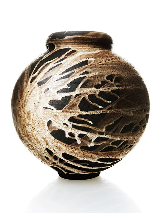 Adam Silverman Vase With Interesting Glaze Earth Amp Fire
