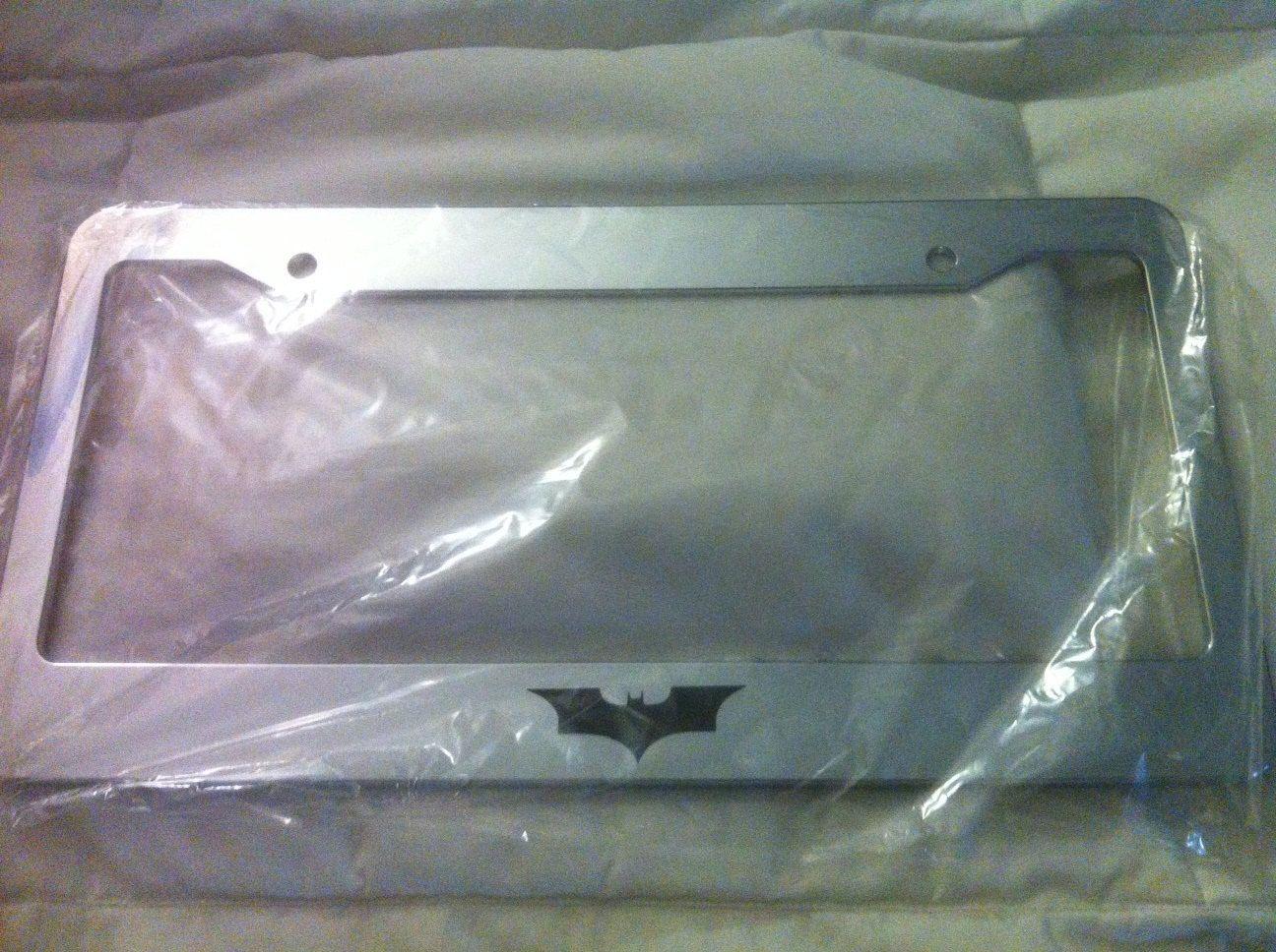 DC Comics Black Chrome License Plate Frame Justice League
