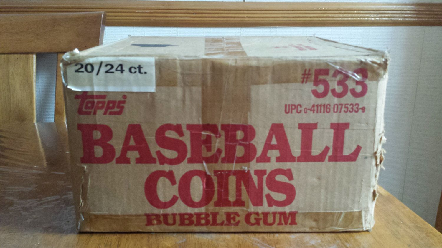 1987 topps baseball coins 20 box count sealed case best