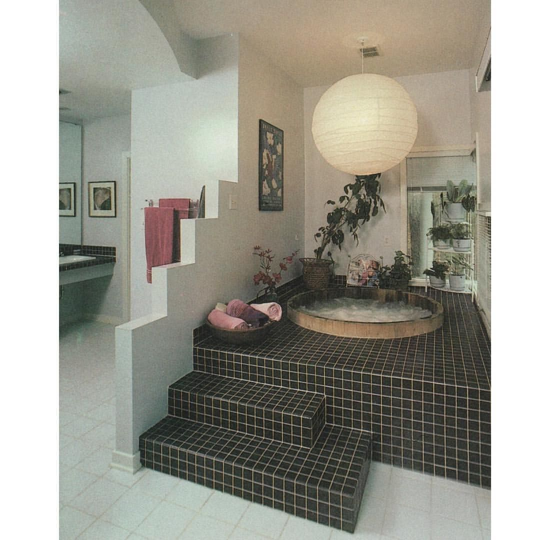 Cozy 80s Bathroom Retro Home Decor Interior Home