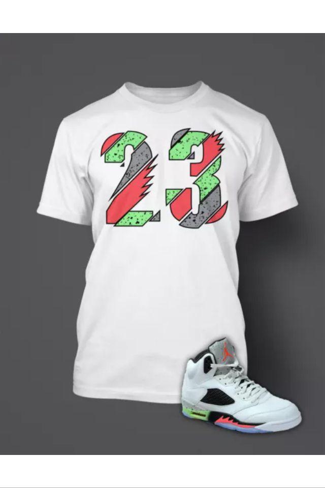 39343ef613d3a9 Jordan 5 space jam shirt size XL