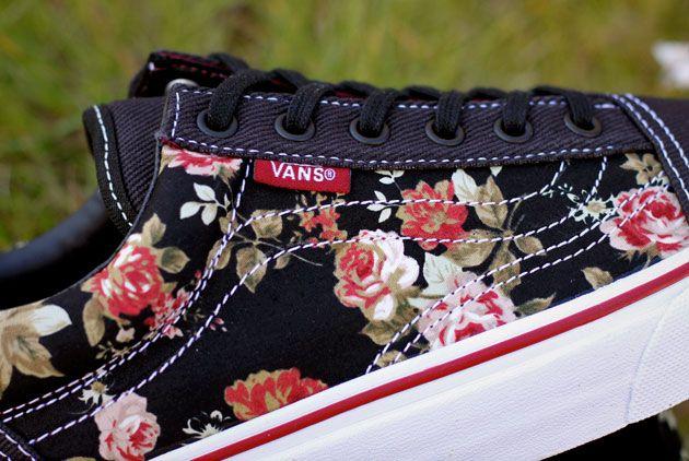 vans old skool #floral black - #Sneakers for #Girls | Vans fille ...