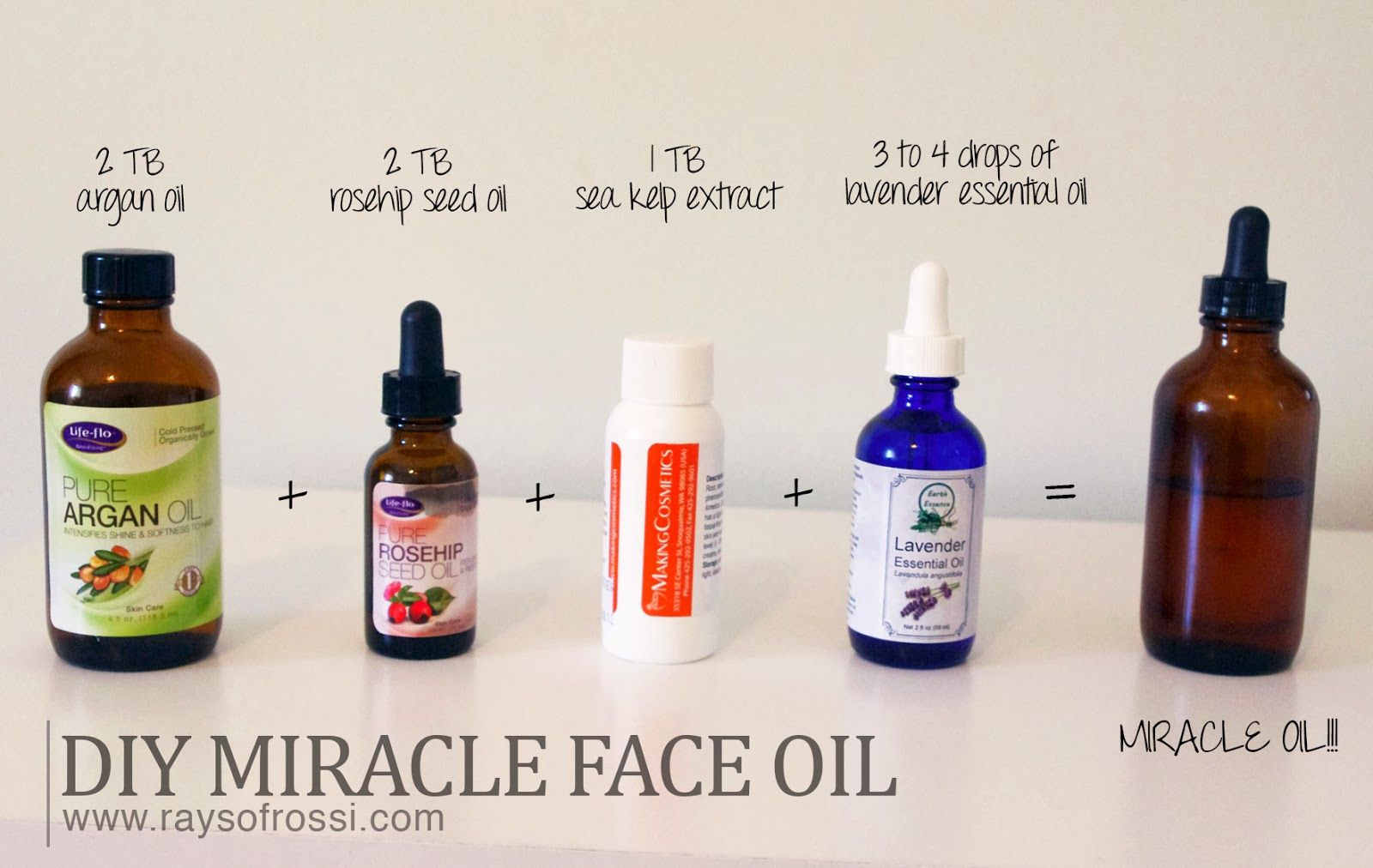 MY MIRACLE FACE OIL (HOMEMADE!) DIY Face Oil Moisturizer