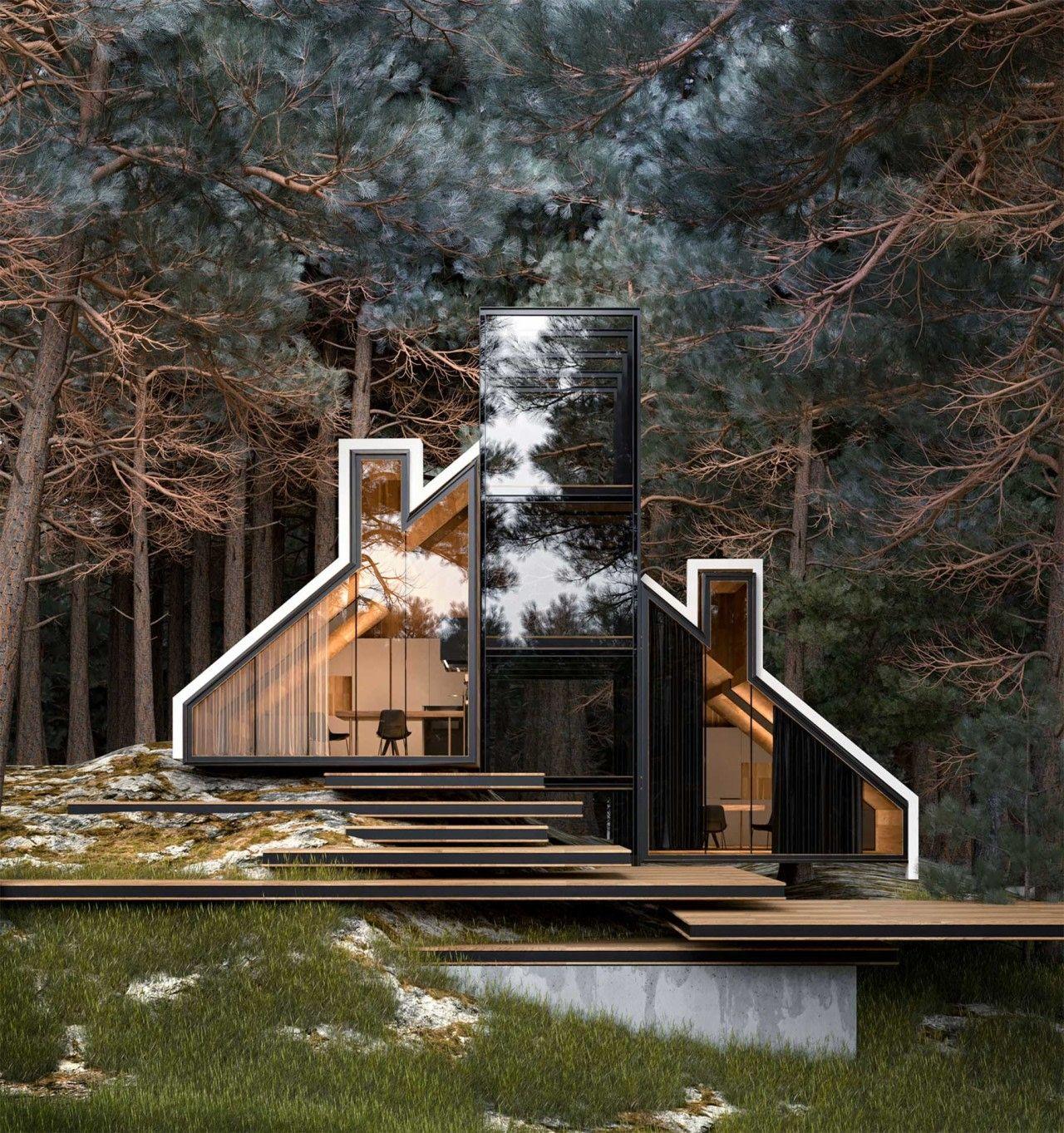 Architektur YORK House Kantige Moderne von Alex Nerovnya