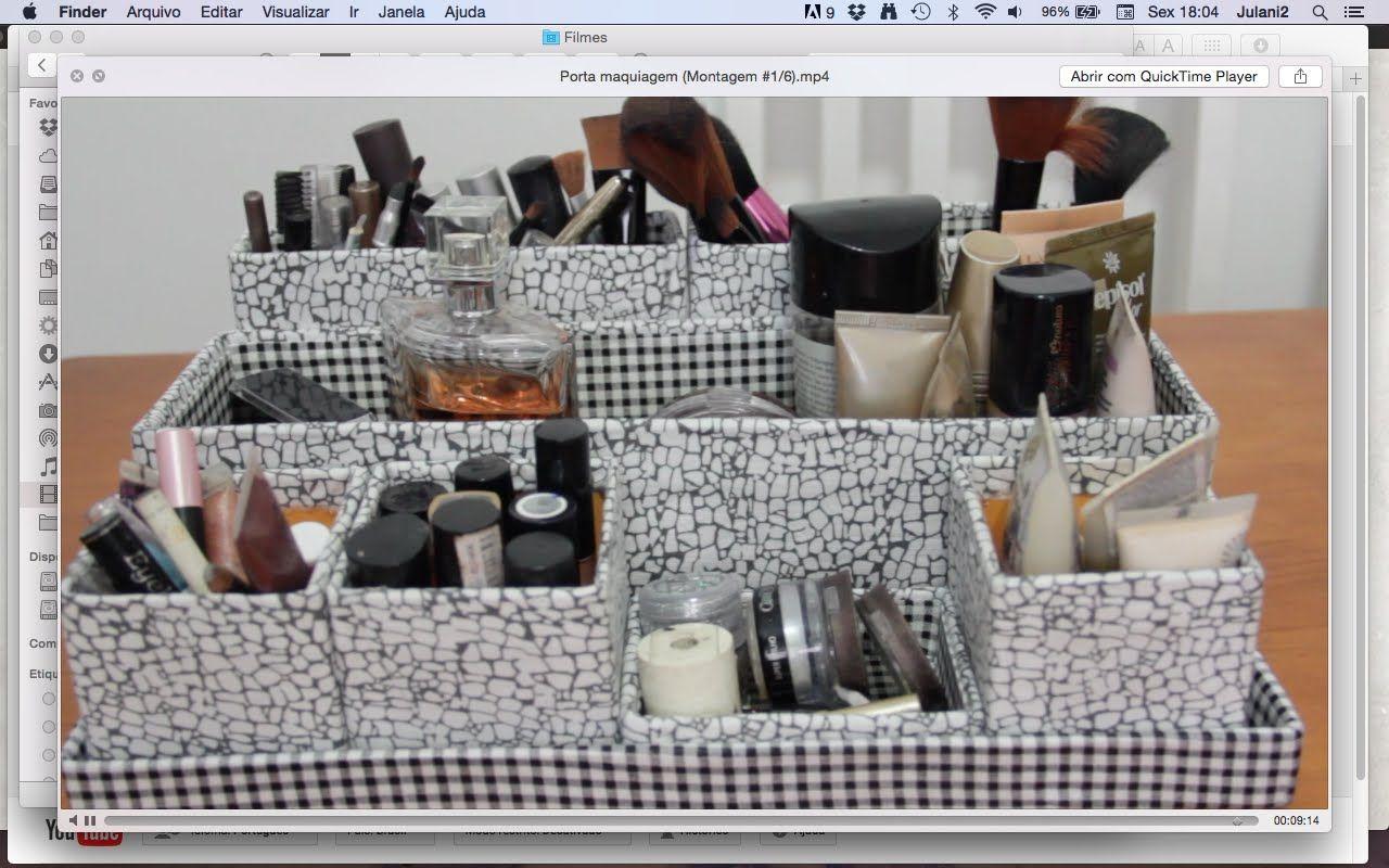 Diy Porta Maquiagem Montagem 1 6 Artesanato Com Imagens