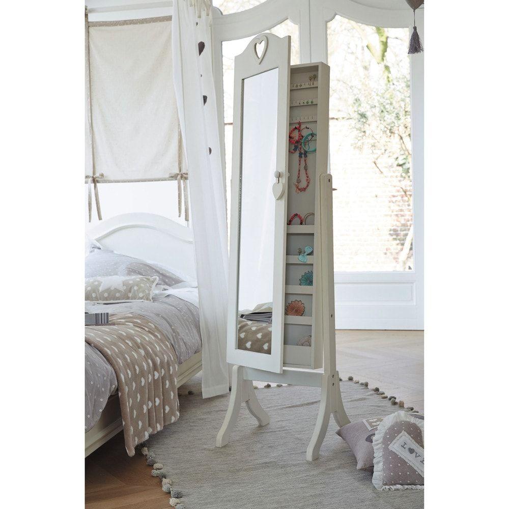 Espejo de pie con almacenaje blanco my jewels storage mirror cheval mirror y mirror - Espejo con almacenaje ...