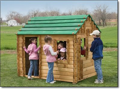 Life Size Lincoln Logs Toy Cabin Deluxe Kit 5 X 6 6 Kids