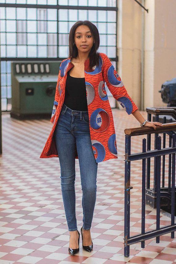 NEU IN: Ankara Jacke, afrikanische Kleidung für Frauen, afrikanischer Druck, Jacke, holländis... #afrikanischerdruck