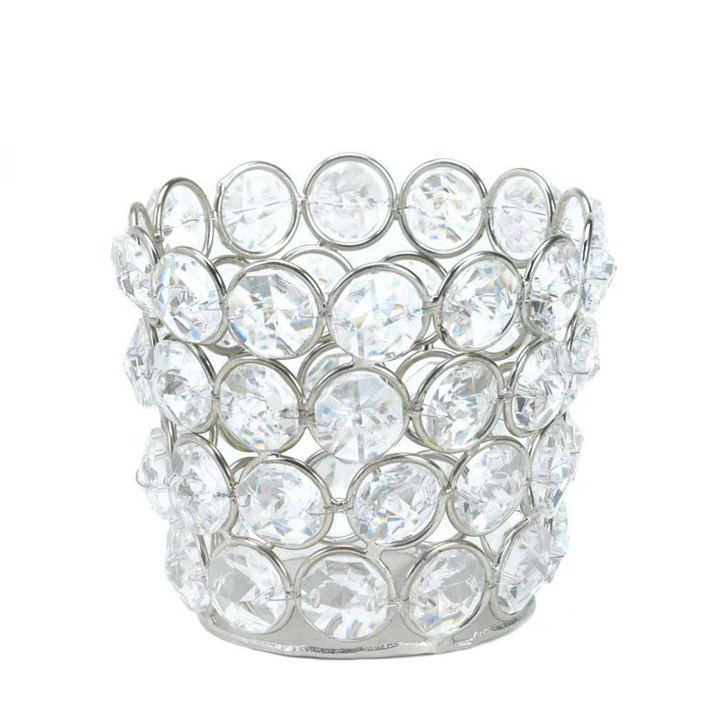 24 Crystal Fluted Candle Holders Wedding Decorations | Flutes ...