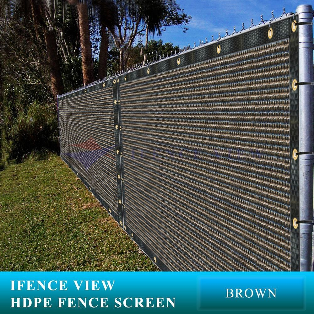 Ifenceview 5 X3 5 X50 Brown Uv Fence Privacy Screen Mesh Fabric Garden Outdoor Privacy Screen Privacy Screen Outdoor Fence Screening