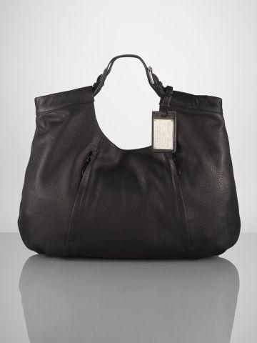 Large Slouchy Leather Hobo - Ralph Lauren Ralph Lauren Handbags - RalphLauren.com