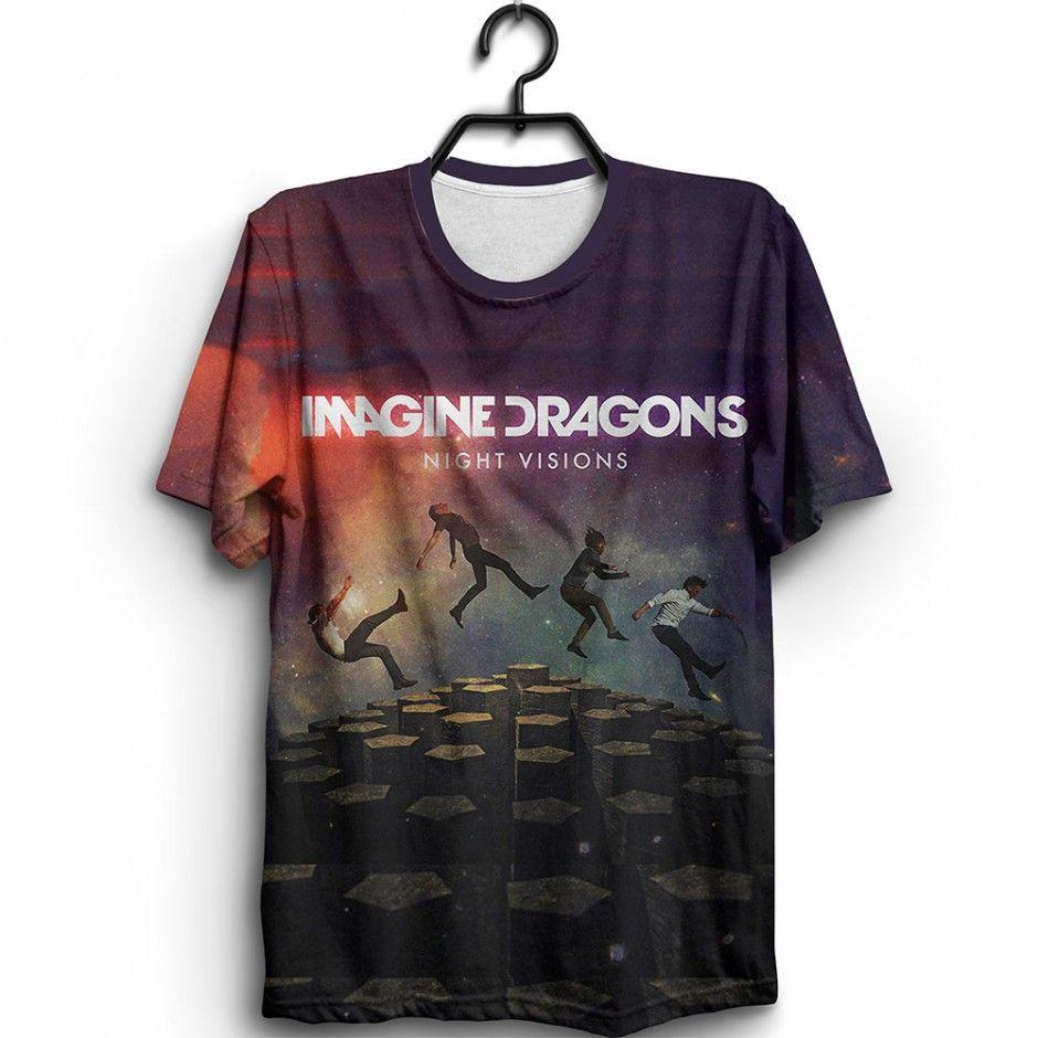 27ffcf3478f Camiseta Imagine Dragons Night Visions