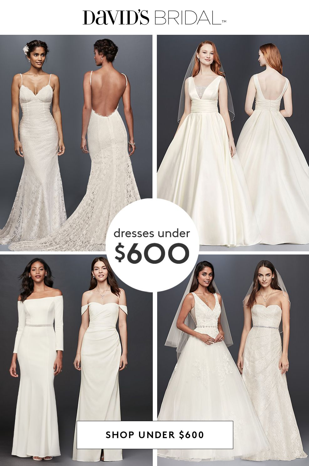 At David's Bridal, our wedding dresses under $20 mean you don't ...
