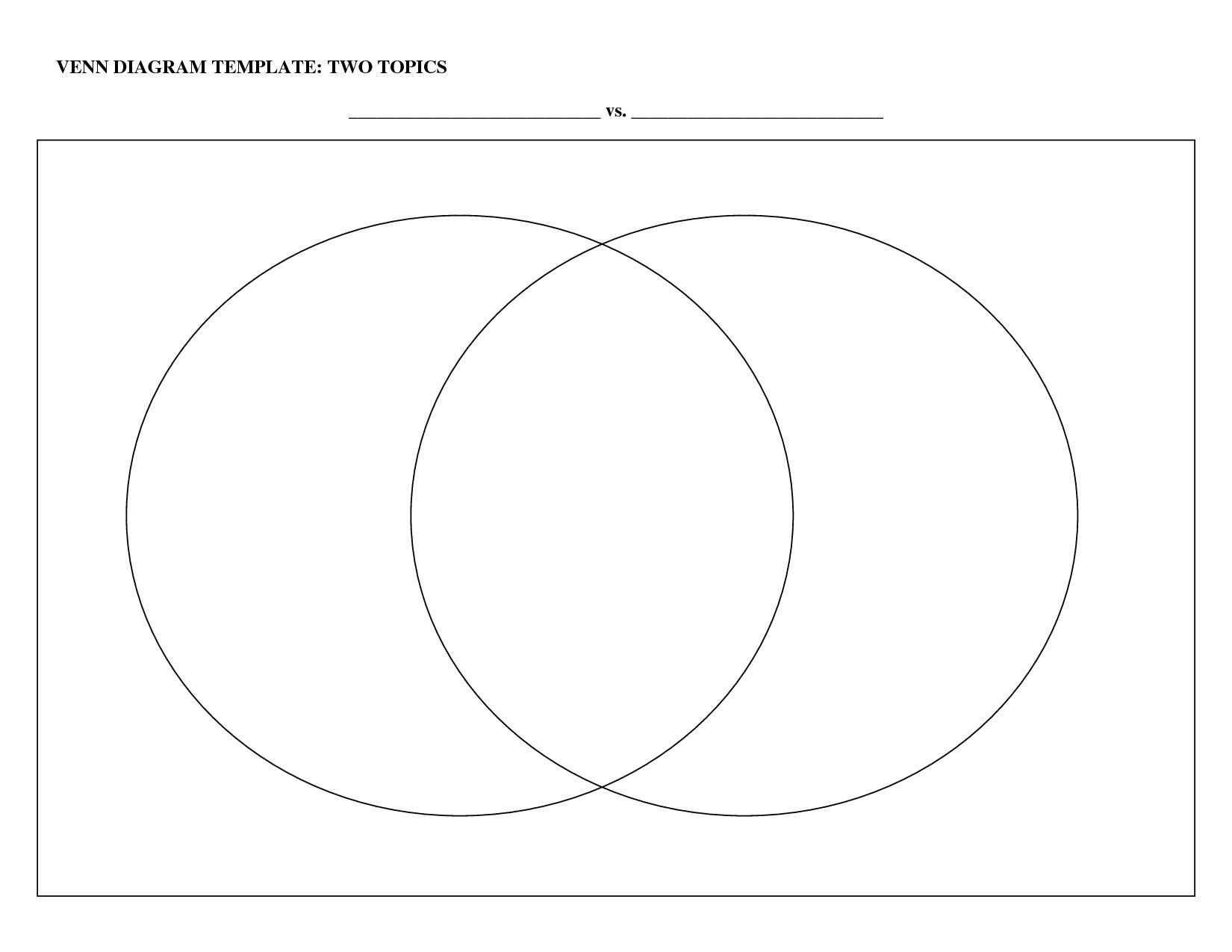 Printable Venn Diagram With Lines