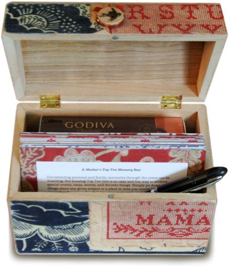 Mother's Day Top Ten Memory Box