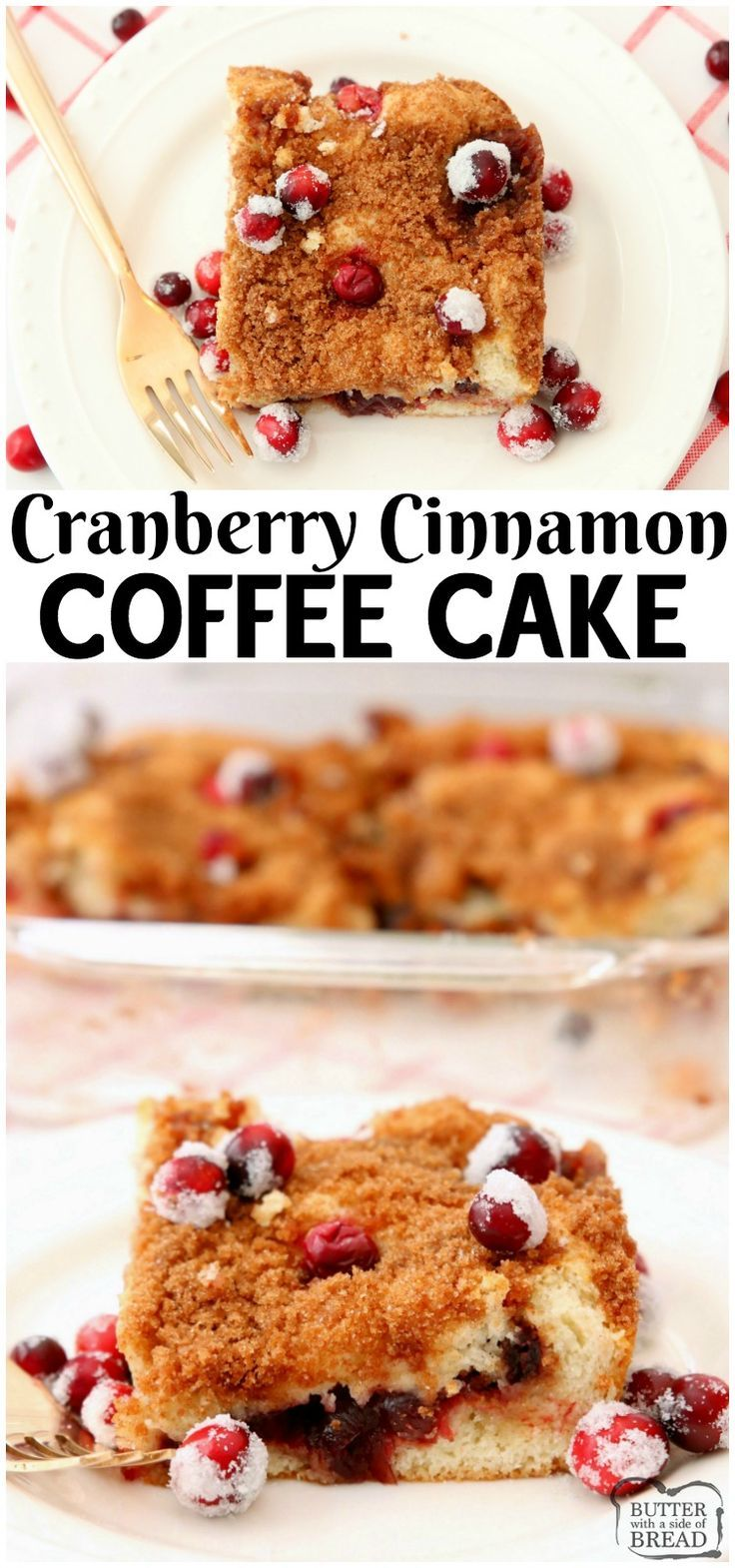Cranberry Cinnamon Coffee Cake Rezept mit nur 4 Zutaten! Festlich & E ...   - Butter with a Side of Bread -