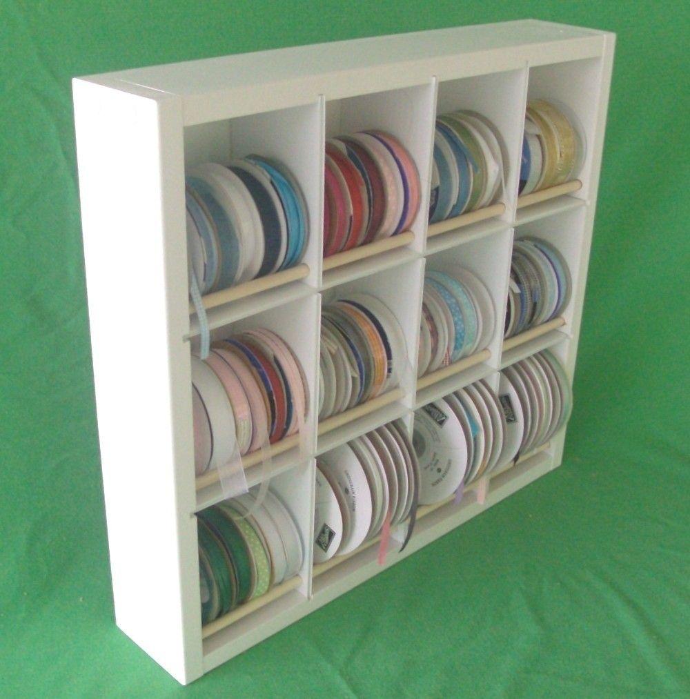 Ribbon Spool Organizer Holder Shelf. $39.95, via Etsy.