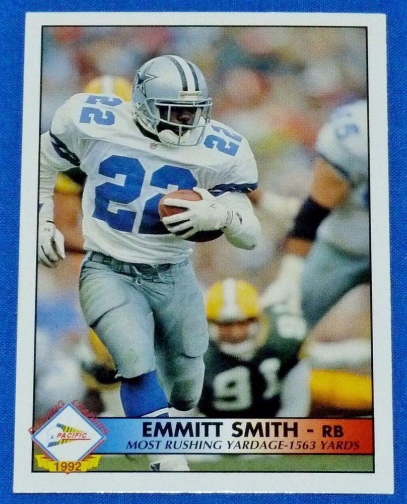 1992 pacific 30 emmitt smith dallas cowboys league