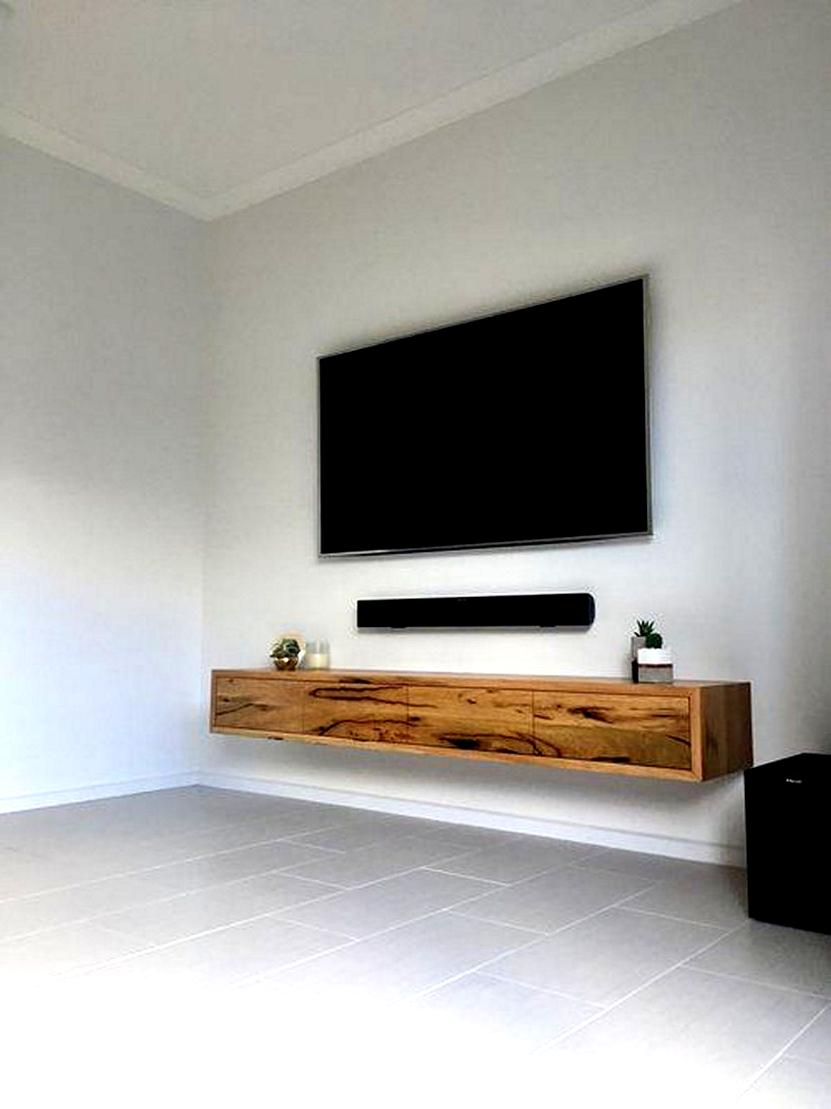 The Perfect Tv Wall Ideas That Will Not Sacrifice Your Look 05 In 2020 Living Room Tv Wall Wall Mount Tv Stand Floating Tv Shelf
