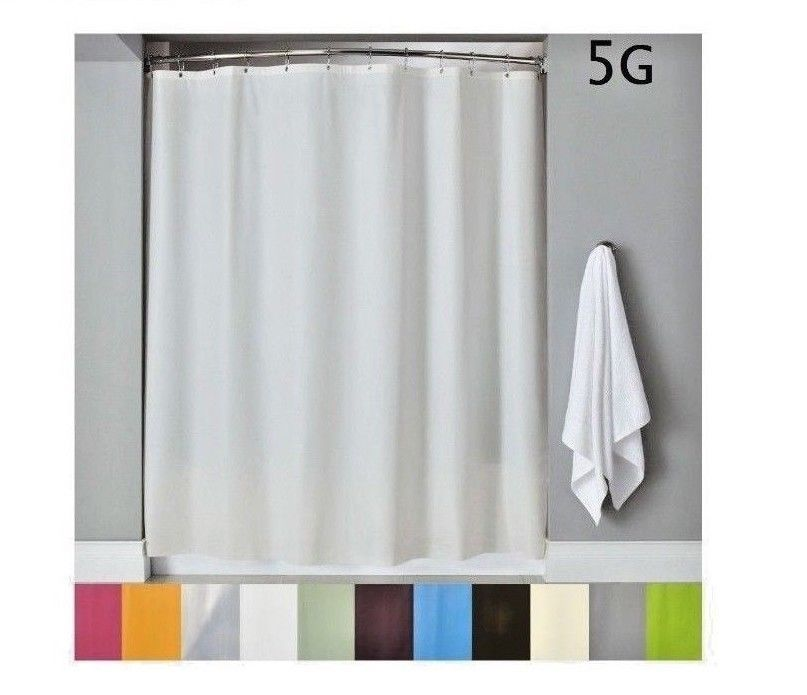 Shower Curtain Liner W Magnets Pvc Heavy Duty Vinyl Solid Color 70