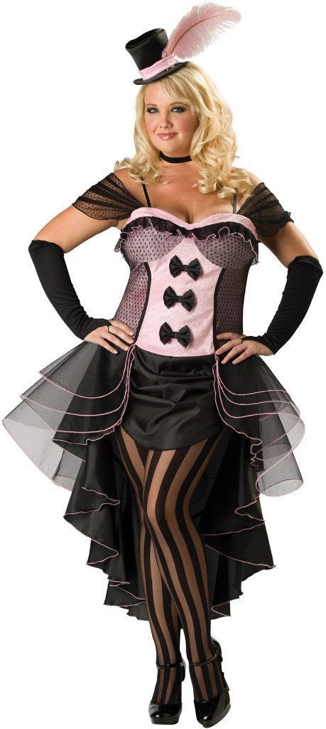 women's costume: burlesque babe   2xl