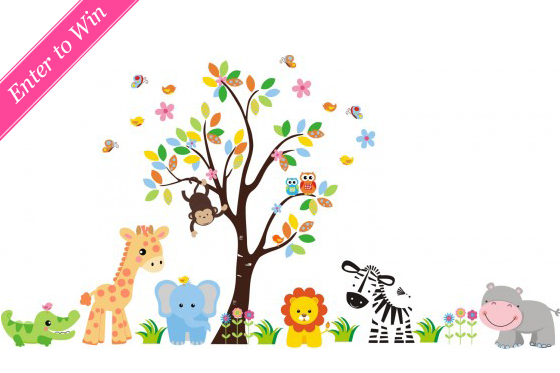 Giveaway Wall Sticker Outlet Gift Certificate Wall Stickers Kids Kids Wall Decals Animal Wall Decals