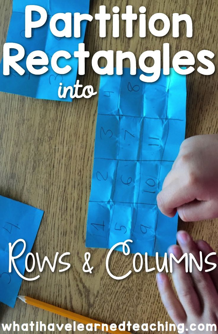 Partition Rectangles into Rows & Columns | Multiplication | Pinterest
