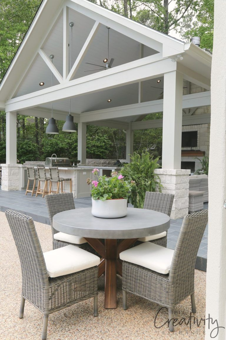 Outdoor Kitchen and Pool House Project Reveal Garden Porch u Patio
