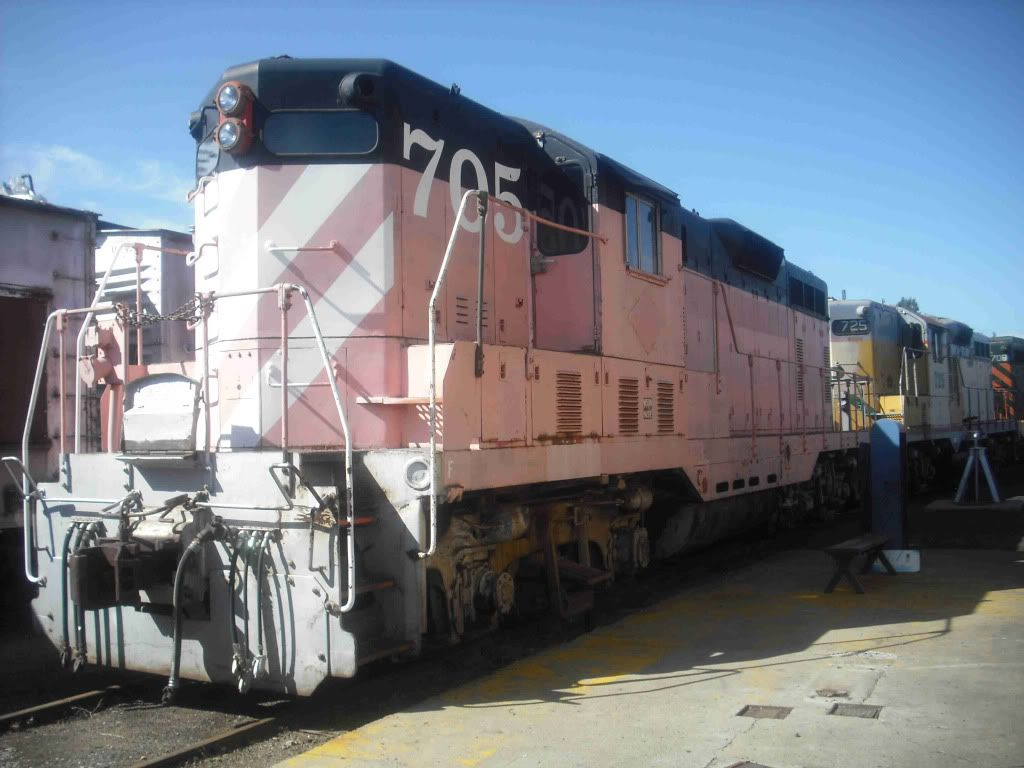 pink train - everything looks great in this shade of pink