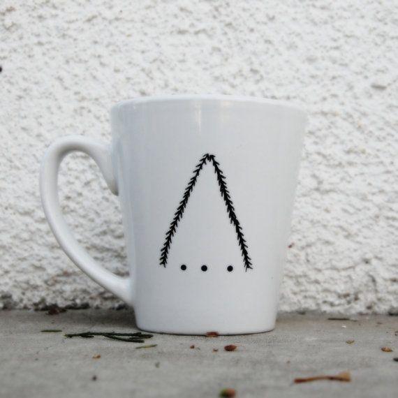Dreieck der Tanne Becher von FORRESTdesign auf Etsy, $10.00