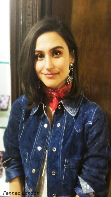 The beautiful and radiant Danielle @danielleasnyder, designer and co-founder of the US #jewellery brand #Dannijo @dannijo rocks a #vintage #scarf with some of her fabulous earrings and a cool #denim jacket at #LibertyLondon. #style #foulard #trend #styleblogger #lookoftheday #fashion #fashionblogger #instacool #instamood #stylist #instafashion #streetstyle #london #fashionaddict #luxurystyle #luxury #designer #creative #bandana #beauty