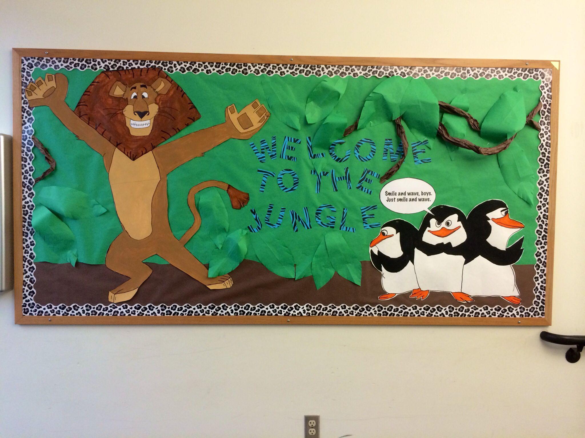 Welcome Back To School Bulletin Board Madagascar Jungle
