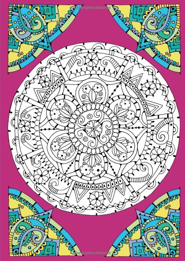 The Mandala Colouring Book Amazoncouk Hannah Davies 9781780552057