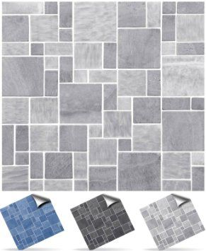 30 Light Grey Self Adhesive Mosaic Wall Tile Decals For 150mm 6 Inch Square Tiles P31 Simply Mosaic Tile Stickers Bathroom Tile Stickers Tile Bathroom