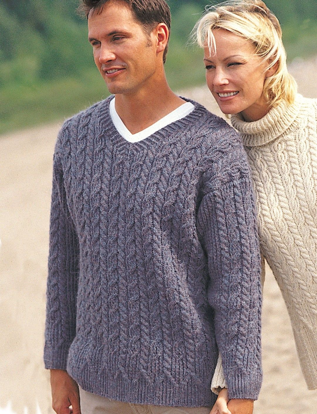 Yarnspirationscom Patons Casual Cables For Him Patterns