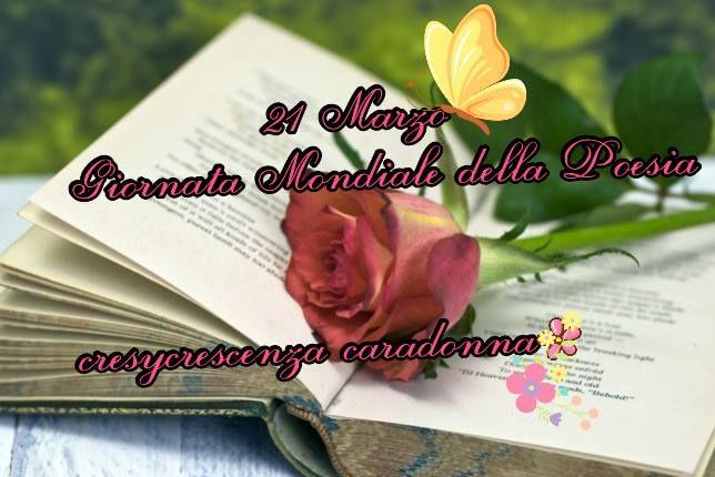 """@RUMORI DELL'ANIMA@ SOLO POESIA di Cresy                                      : 21 Marzo   """"Giornata Mondiale della Poesia"""""""