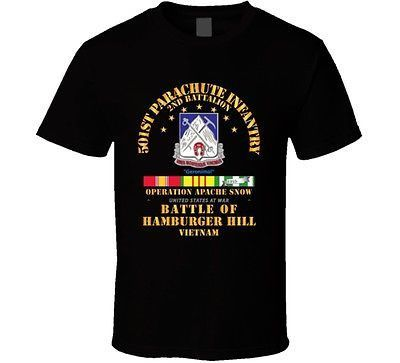 Hamburger Hill - 2nd Bn 501st PIR w Svc Ribbons T Shirt
