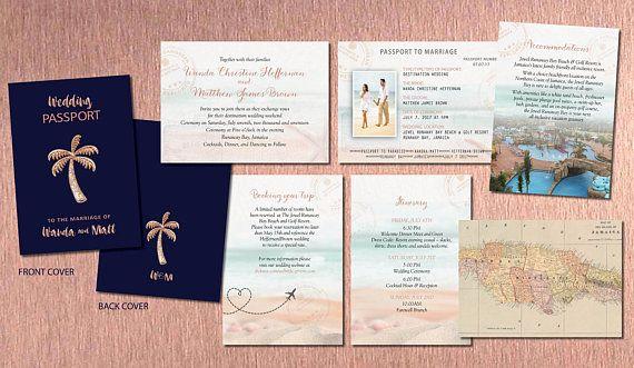 Stunning Rose Gold And Navy Passport Wedding Invitation Set Etsy Passport Wedding Invitations Passport Wedding Destination Wedding Invitations