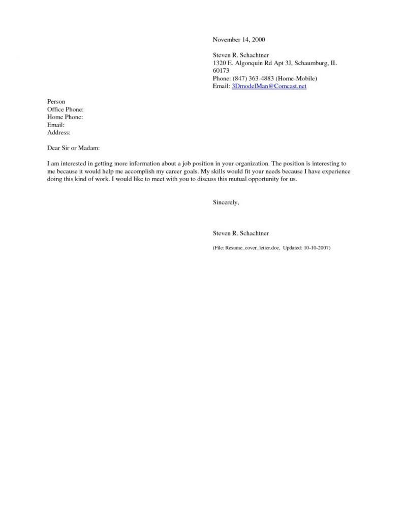 Cover Letters Why You Shouldn T Make A Dear Sir Or Madam